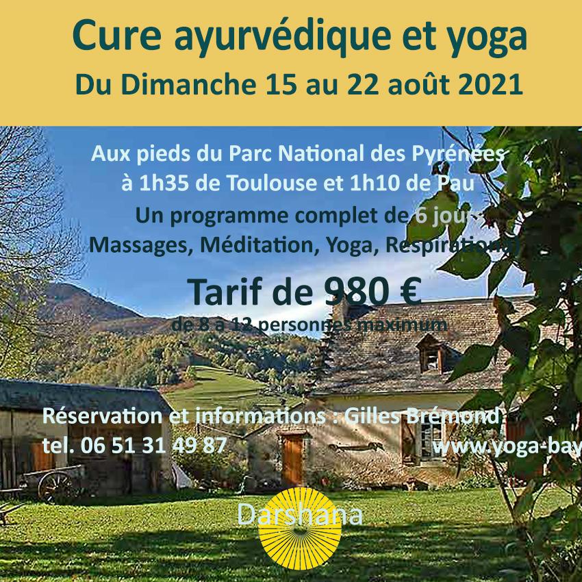 Cure ayurvédique et yoga 2020 08